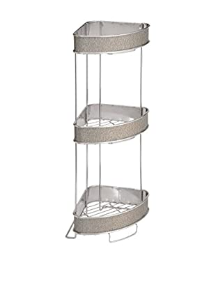 InterDesign Twillo 3-Tier Corner Shelf, Metallico