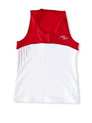 Naffta Camiseta Niña (Blanco / Rojo)