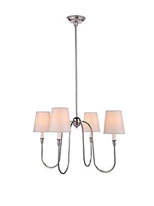 Urban Lights Lancaster 4-Light Pendant Lamp, Polished Nickel