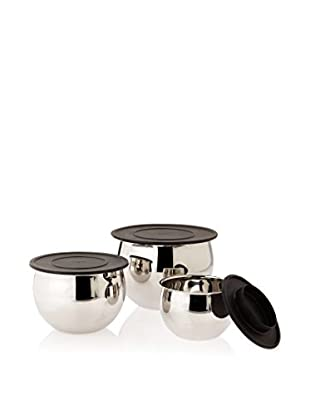 BergHOFF Zeno 6-Piece Mixing Bowl Set, Silver
