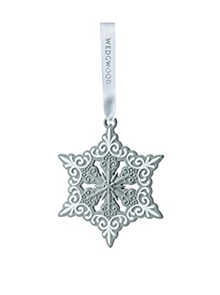 Wedgwood Pierced Snowflake Ornament, Grey