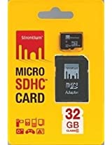 32 GB Strontium microSDHC Memory Card (Class 10) With Adapter - SR32GTFC10A