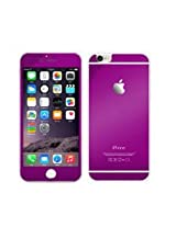 ssimpex® PURPLE Electroplant Tempered Glass Front/Back Screen Protector Film For Iphone 6 (4.7) (PURPLE)