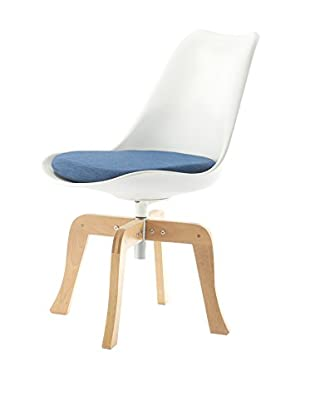 Meelano M15 Chair In White And Navy