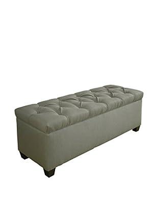 MJL Furniture Sole Secret Large Upholstered Shoe Storage Bench, Green