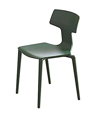 COLOS Set Silla 2 Uds. Split VERDE SCURO