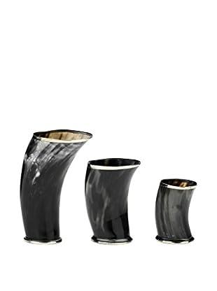 Braid Concept Blumenvase 3er Set schwarz/anthrazit/beige