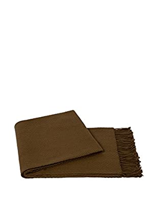 a & R Cashmere Cashmere & Wool Blend Chevron Throw, Camel