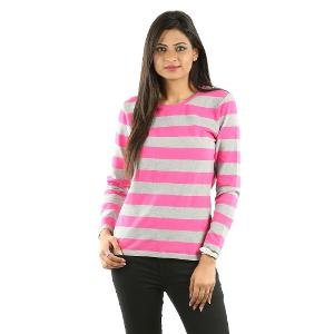 U V & W Women's T-shirt - Grey & Pink