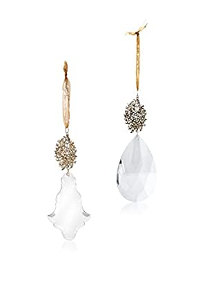 Sage & Co. Set of 2 Crystal Ornaments with Jewelry Tops