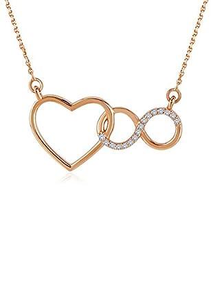 Divas Diamond Collar Diamond Heart Infinity Gold