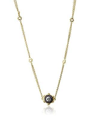 Belargo Round Bezel Pendant Necklace