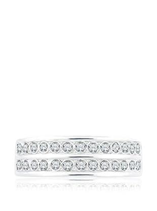 Diamond Style Ring Double Pavé