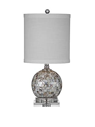 Bassett Mirror Company Dania 1-Light Table Lamp, Mother of Pearl