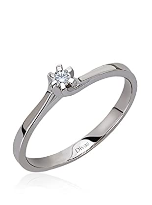 Divas Diamond Anillo 0,05 ct Diamond Solitaire (Plata)