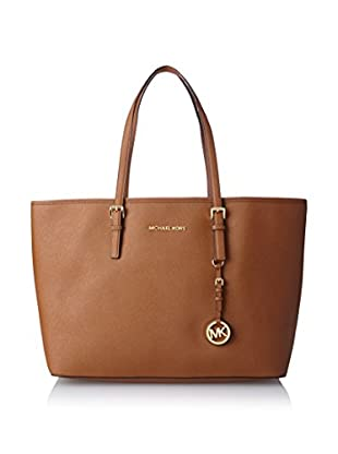 MICHAEL Michael Kors Women's Jet Set Travel Medium Multi-Function Tote, Luggage