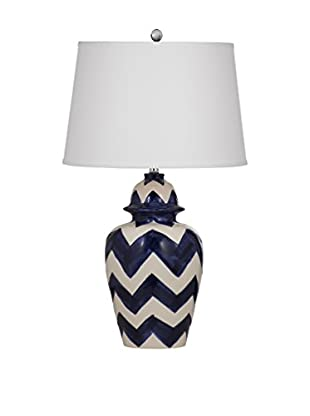 Bassett Mirror Company Russell 1-Light Table Lamp, Royal Blue
