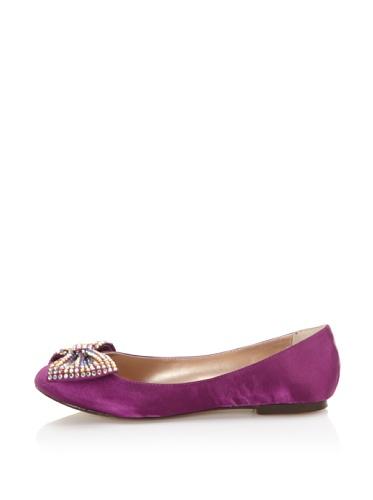 STEVEN by Steve Madden Women's Haris Flat with Bow (Purple)