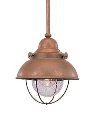 Sea Gull Lighting Sebring LED Mini-Pendant, Weathered Copper