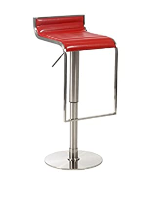 Eurostyle Forest Adjustable Bar/Counter Stool, Red