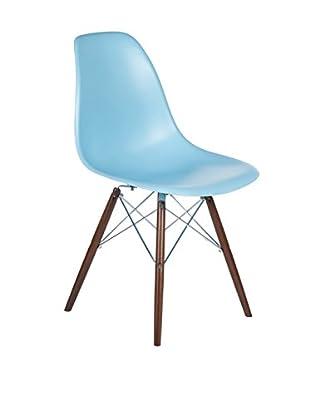 Control Brand The Mid-Century Eiffel Dining Chair, Ocean Blue/Walnut