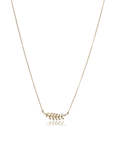 Eddera Gold White Topaz Epi Necklace