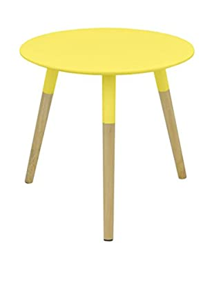 Three Hands Mid Century Dipped Wood Leg Side Table