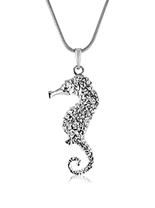 Bohemian Love Story Collar Seahorse W/S Plateado