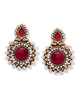 Enchanting Maroon Earrings