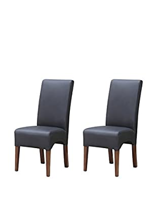 Manhattan Living Set of 2 Dinata Dining Chairs, Black