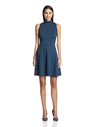Sharagano Women's T-Neck Fit & Flare Dress