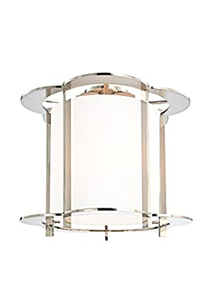 Hudson Valley Lighting Warwick 5-Light Semi Flush, Polished Nickel/White