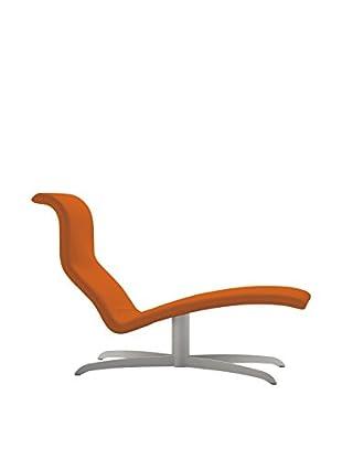 Domitalia Atlantis Chaise Lounge, Satinated Aluminum/Orange