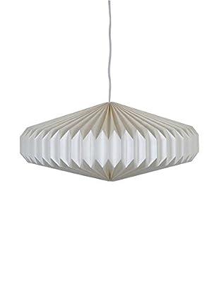 Disk Paper Accordion Pendant Lamp, Cream