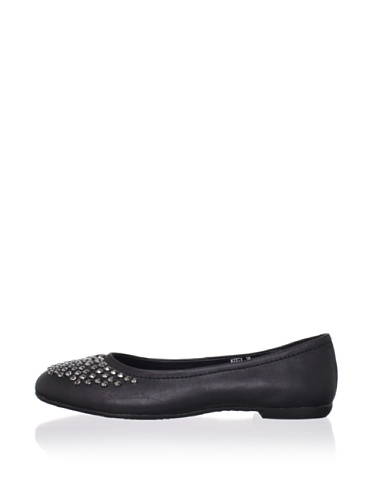 Adone Vitali by J. Loren Kid's Kitty Dress Shoe (Black)