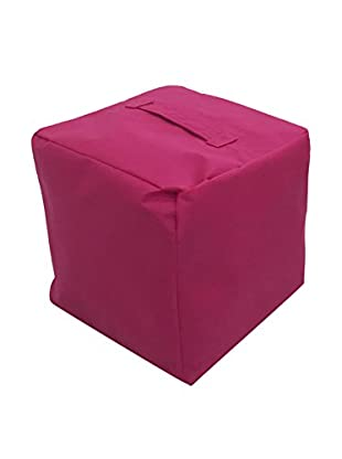 Evergreen Home Pouf pink