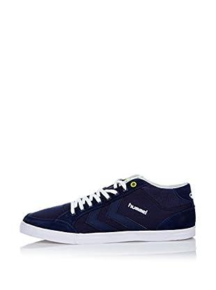 Hummel Sneaker Slim Stadil Oneway Mid (blau)