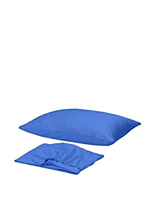 Homemania Betttuch und Kissenbezug blau 150 x 240 cm