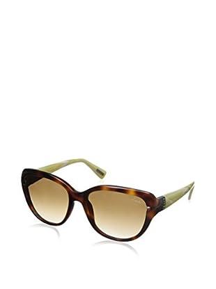 Lanvin Women's SLN595 Sunglasses, Havana/Beige