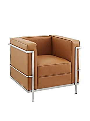 Modway Charles Petite Leather Armchair (Tan)