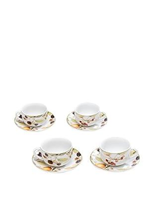 Tognana Kaffeetasse mit Untertasse 4er Set Metropolid Cordoba