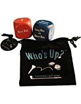 Whos Up Foam Dice Golf Game Great Gift w/ Pouch NEW
