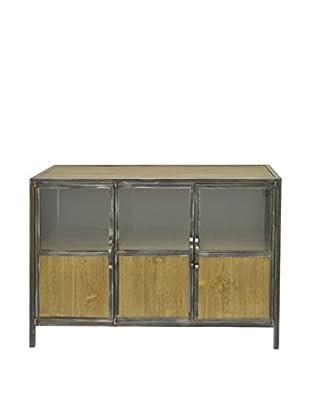 Three Hands 3-Door Cabinet, Brown