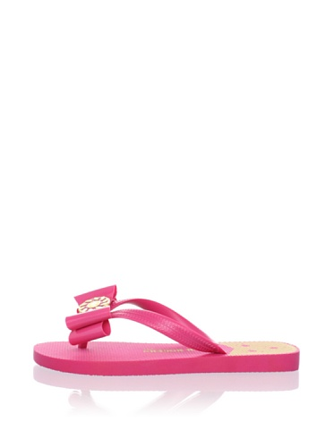 Jack Rogers Women's Ibiza Bow Flip Flop (Fuchsia)