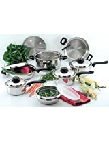 Chef S Secret 15-Piece Element Stainless-Steel Cookware Set