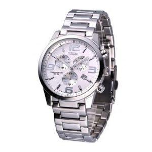 Citizen Eco-Drive Chronograph White Dial Men's Watch - AN7050-56A