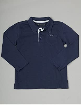 Calvin Klein Jeans Longsleeve Polo (Dunkelblau)
