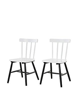 Stuhl 2er Set Art. weiß