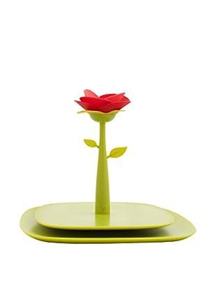 VIGAR Servilletero Rose Verde / Rojo