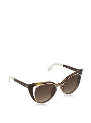 Fendi Gafas de Sol 0136/S J6_NY2 (51 mm) Havana / Plateado